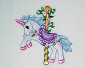 Carousel Animals II Machine Embroidered Blocks