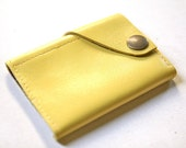 Leather Wallet aka The Dave in Lemon Yellow