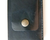Leather Wallet in Navy