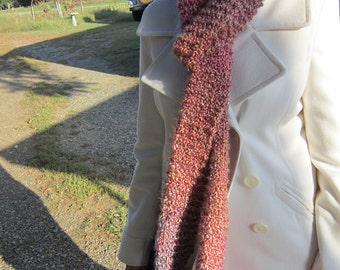 Crochet, Crochet Scarf, Scarf, White Scarf, Winter, Purple Scarf