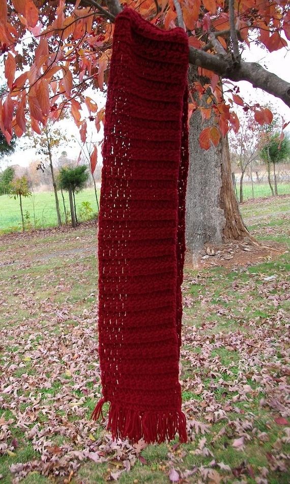 Burgandy Crochet Scarf