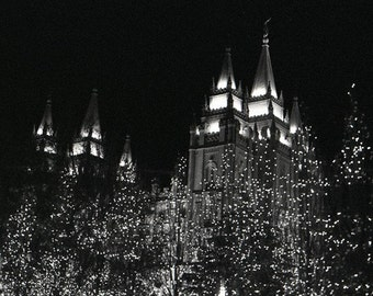 On a Winters Night-SLC LDS Temple Notecards