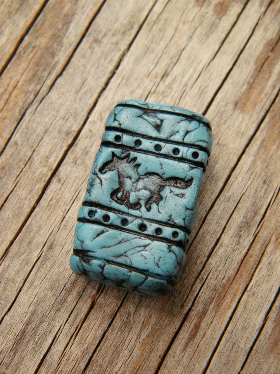 Galloping Horse turquoise bead