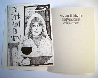 5 x 7 Eat Drink and Be Mary Holiday Cards