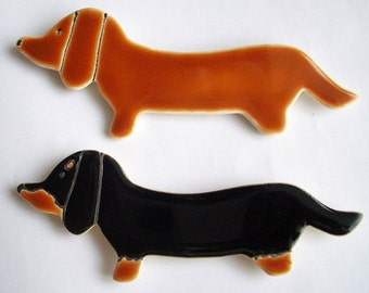 Individual 5 1/4 x 1 1/2 Dachshund Magnet or Decoration