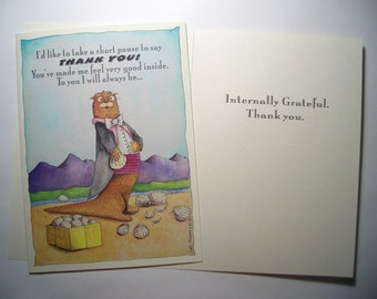 Thank you, Internally Grateful Card-Three 5 x 7 Eco Friendly cards