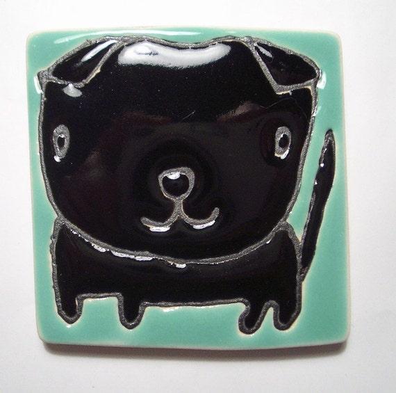2.5 square Black Flat Eared Cat No.4