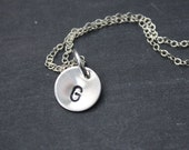 Silver Initial Necklace With Custom Initial Charm