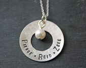 Personalized Mother's Necklace With Children's Names in Sterling Silver Personalized Necklace Personalized Jewelry