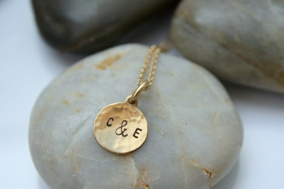 Custom Small Gold Initial Necklace
