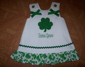Custom BOUTIQUE A-Line St. Patrick's Day personalized Dress/Jumper