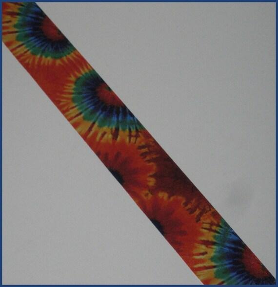 1 5 inch psychedelic tie dye print ribbon 5 yards