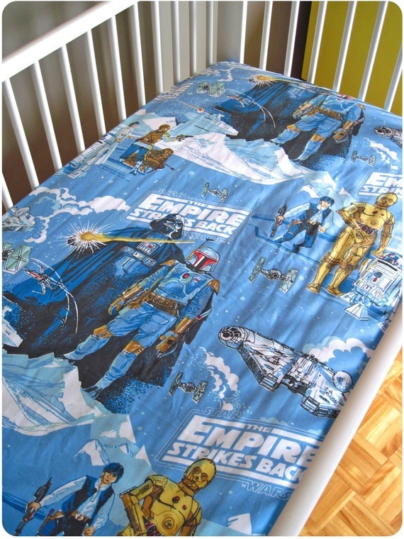 Vintage Star Wars Fitted Crib Sheet