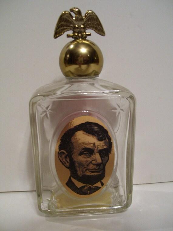 Vintage Abraham Lincoln Avon Cologne Bottle
