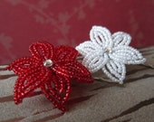 Miko - Bobby Pins or U-Pins - French Beaded Flower