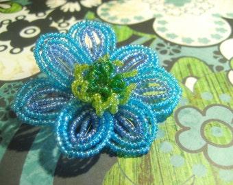 Marino  -  Hair Clip - French Beaded Flower
