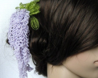Wisteria Hair Stick - French Beaded Flower Kanzashi Maiko Geisha Japanese Hair Accessory