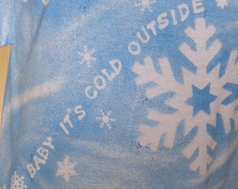 SNOW Handpainted One of a Kind Tee
