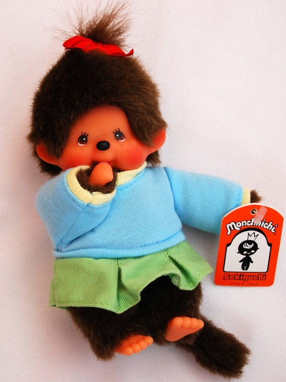Monchhichi Doll 80's Collectible