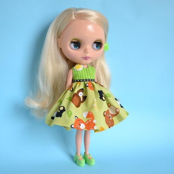 Blythe Tiny Woodland Creatures Dress for Blythe Doll