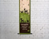 Custom Growth Chart Canvas Deer in Forest Squirrel
