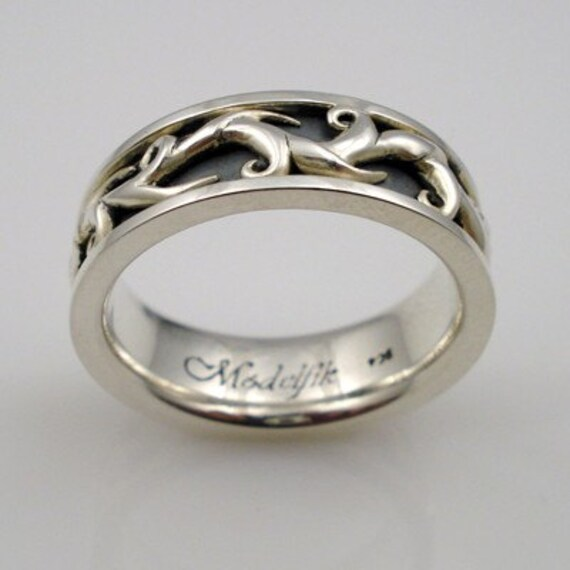 Elven Collection - Oxidized Sterling Silver ring 02