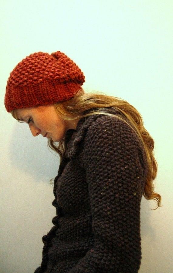 Knit Pattern Super Bulky Hat : KNITTING PATTERN // Autumn hat // seed stitch super bulky