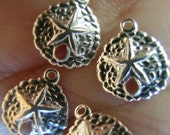 Sterling Silver Sand Dollar Charm(10 total)