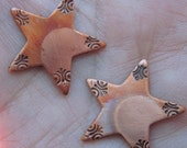 Copper Star Charms(one pair)