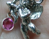 Sterling Silver Cupid Charm(one)