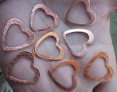 Copper Fancy Heart Frames(one pair)
