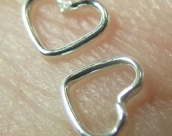 Sterling Silver Tiny Heart Links(25 hearts)or (50)