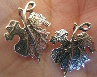 Sterling Silver Grape Leaves(You choose the quantity)