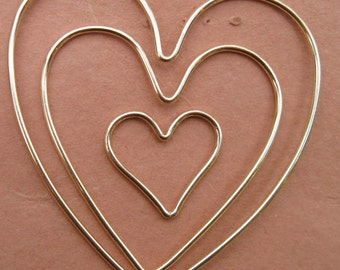 Gold filled heart frame - (one heart frame)(32mm size only)