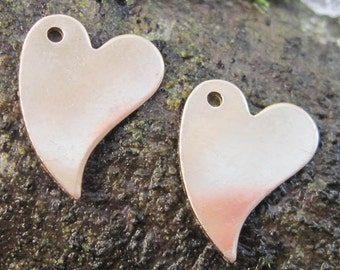 12mm-Gold Filled Heart Charms(you choose the quantity)
