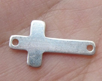 Sterling Silver Cross Link/Stamping Blank(one cross link)