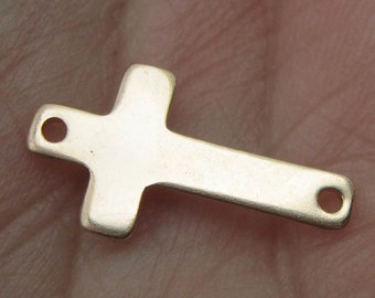 Gold Filled Cross Stamping Link(One,Two or Three cross link/charms)