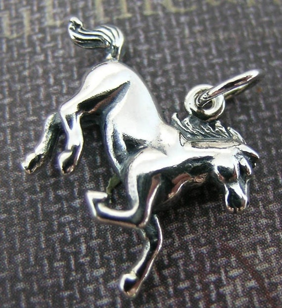 Sterling Silver Horse Charms(one,two, or three)(3-D)