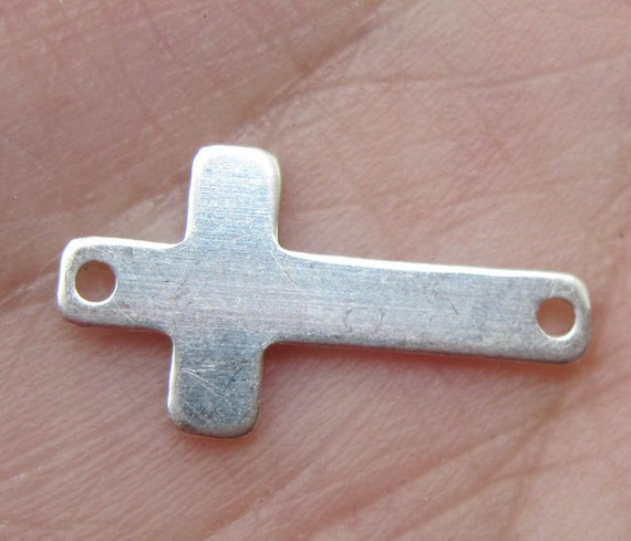 Sterling Silver Cross Link/Stamping Blank(one cross link)