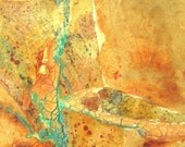 Original mixed media abstract painting Passage 18