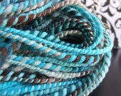 Sale--Bluegrass--hand dyed handspun merino wool 2ply yarn 165 yds bulky