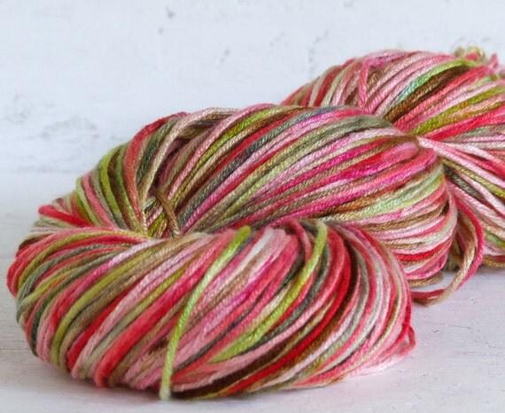 Hand Painted Bamboo Yarn - Petunia - 200 yds dk