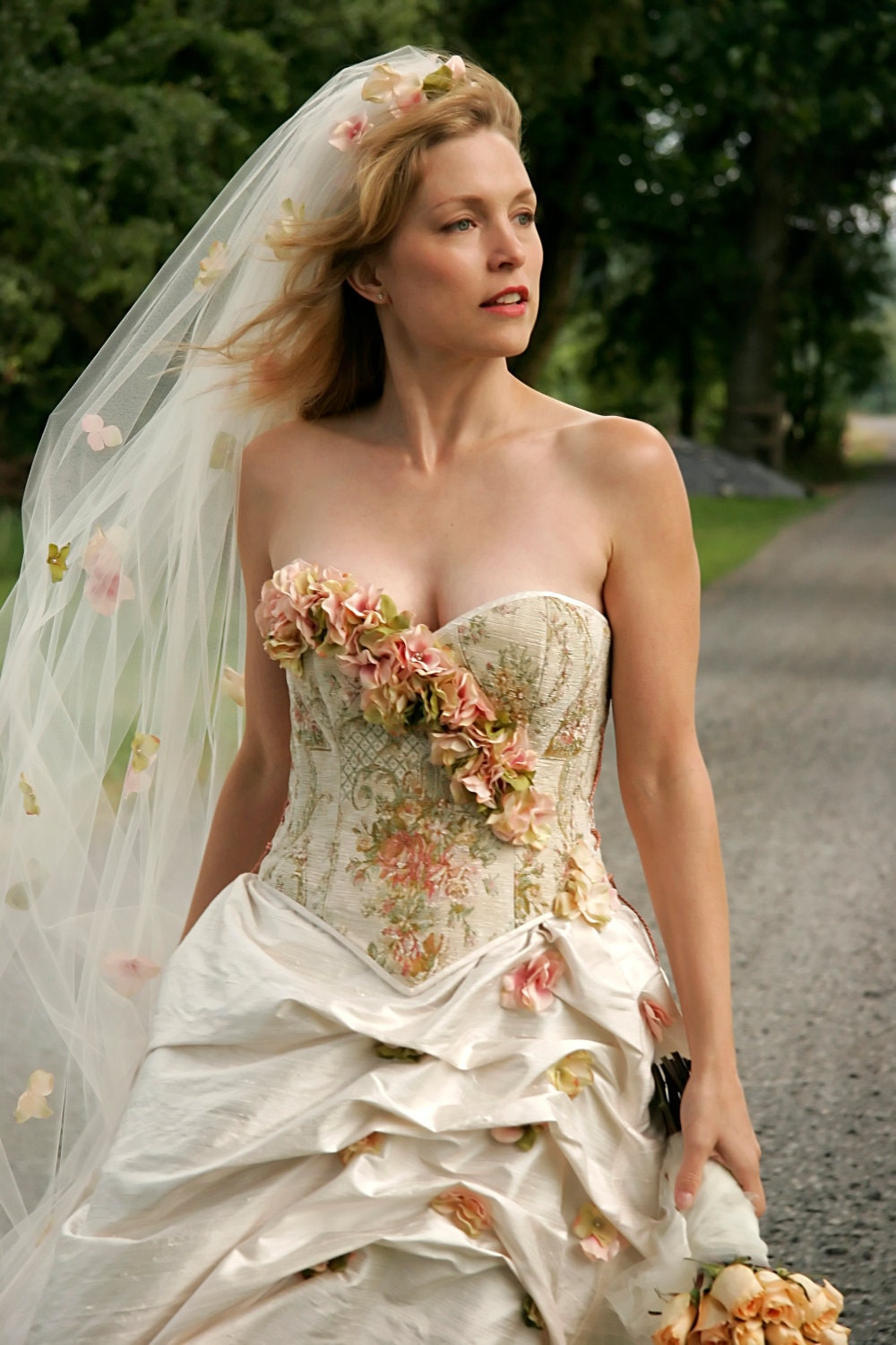 colorful garden wedding dress corset garden wedding dress zoom
