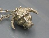 Gargoyle Locket Steampunk Handmade Silver