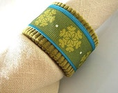 Jewel Toned Napkin Rings in Green and Turquoise - set of four