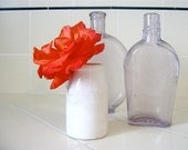 Antique white ceramic crackle mini vase