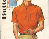 Vintage Butterick 2657 Mens shirt 16.5 neck