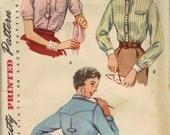 Vintage Simplicity 4813 Misses shirt bust 30