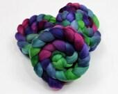 Polwarth Wool Top Roving - Handpainted Spinning or Felting Fiber