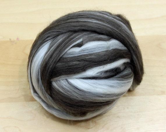 Merino/ Yak Top - Roving - Undyed Spinning Fiber (4oz)